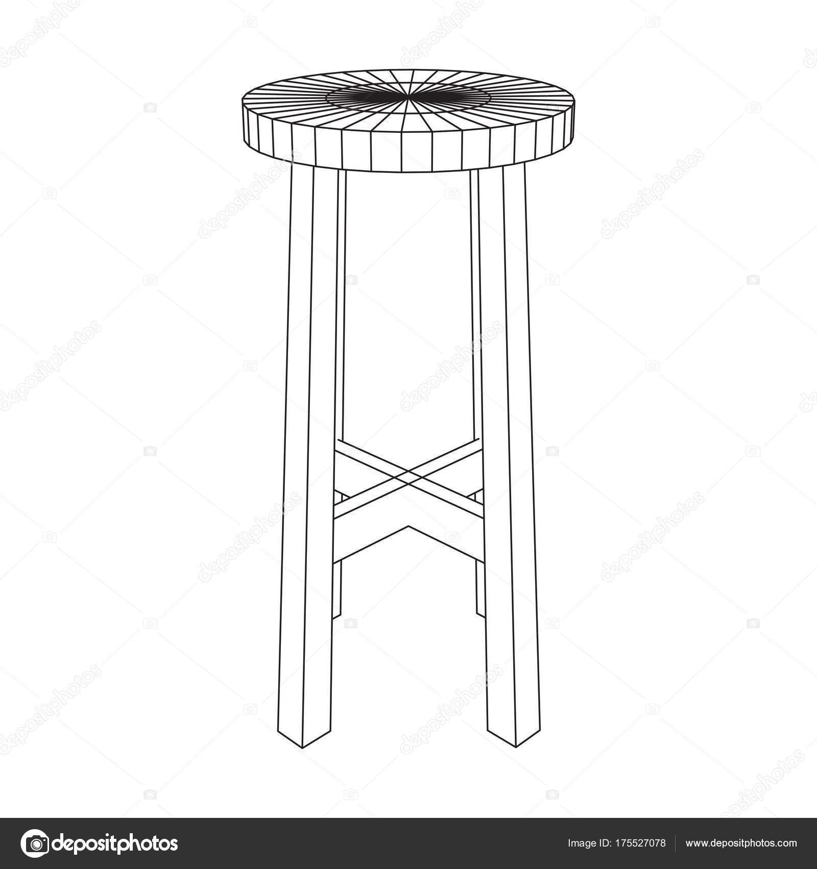Bar stool furniture wireframe blueprint stock vector newb1 bar stool furniture wireframe blueprint stock vector malvernweather Choice Image