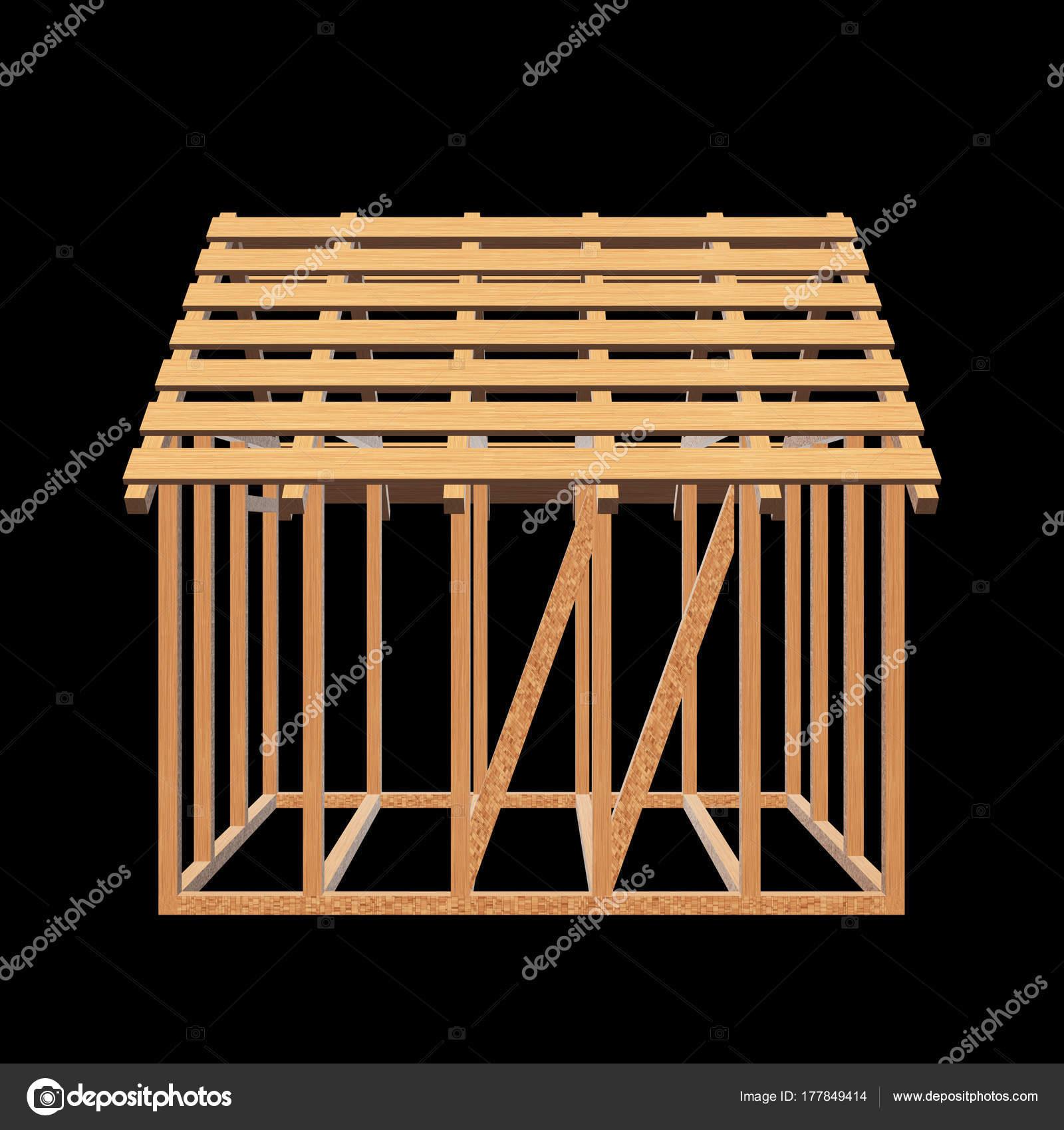 Aus Holz Framing Haus — Stockfoto © newb1 #177849414