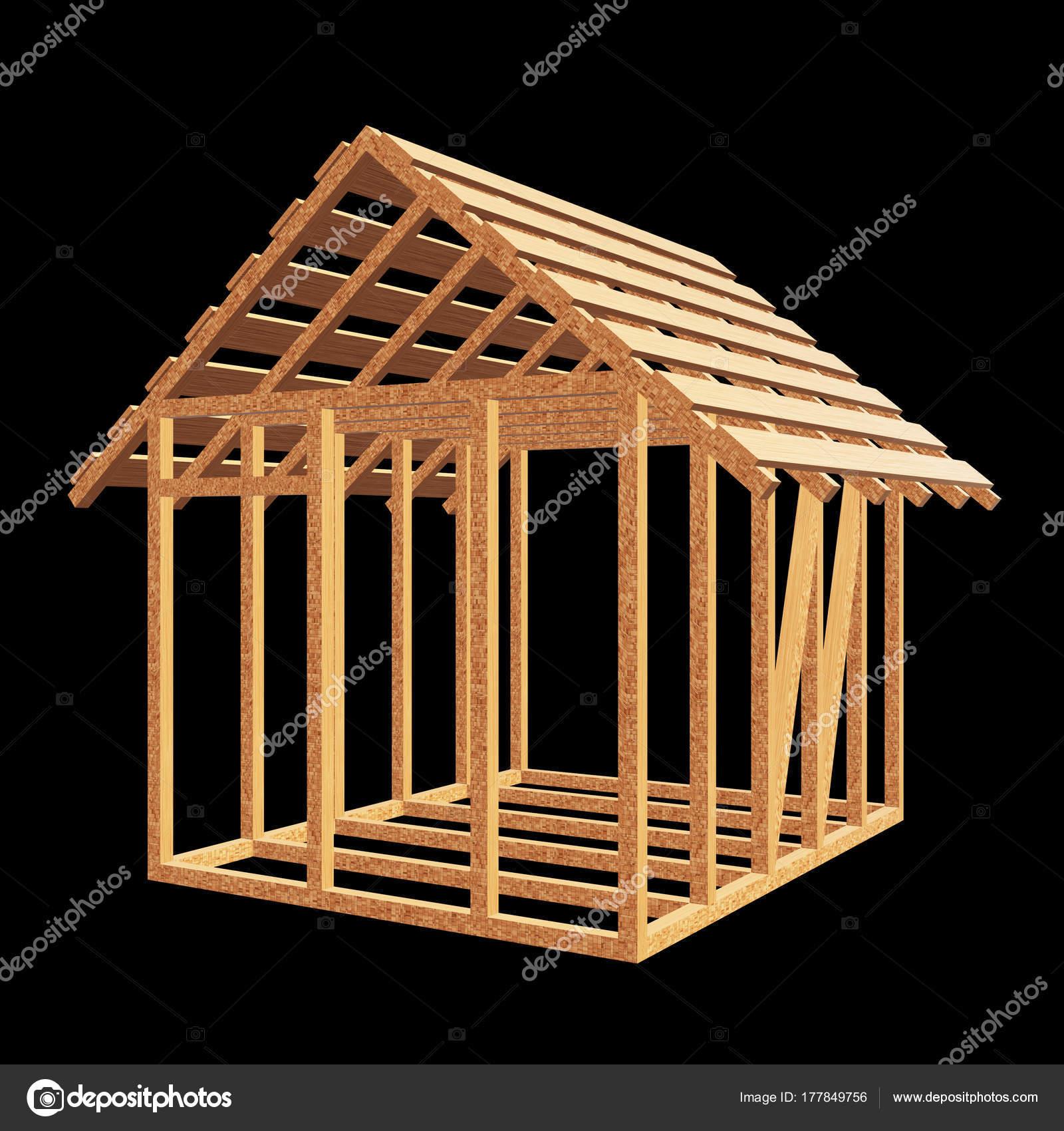 дом деревянный каркас стоковое фото Newb1 177849756