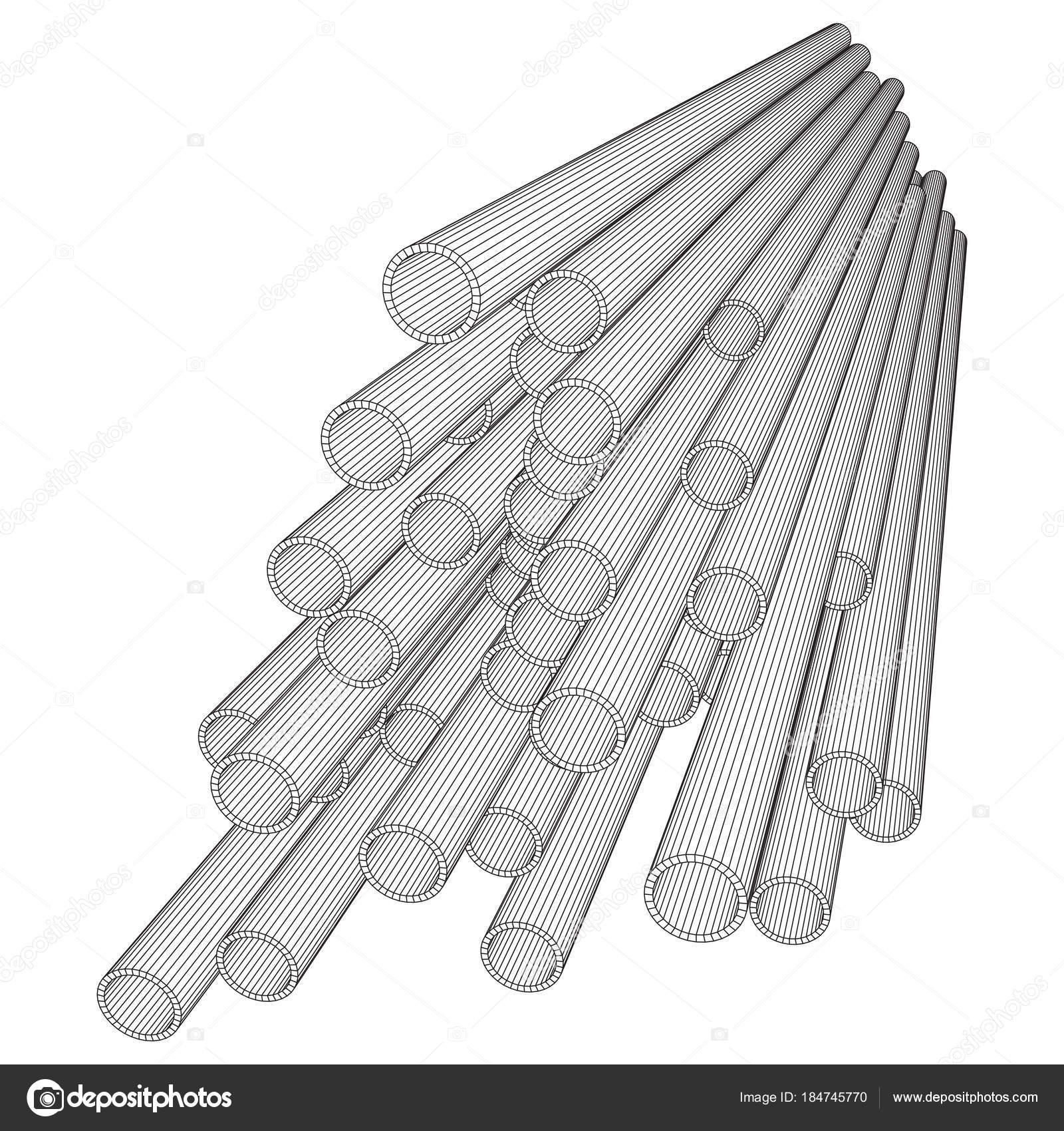 Metalurgia De Estructura Metálica Redonda De Tubos Vector