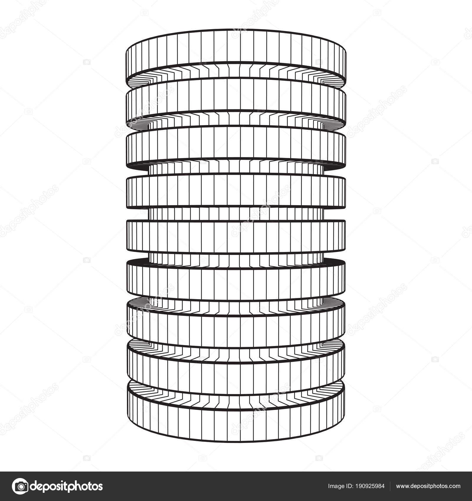 Futuristische Server Festplatte und Datenbank oder Batterie-Zelle ...