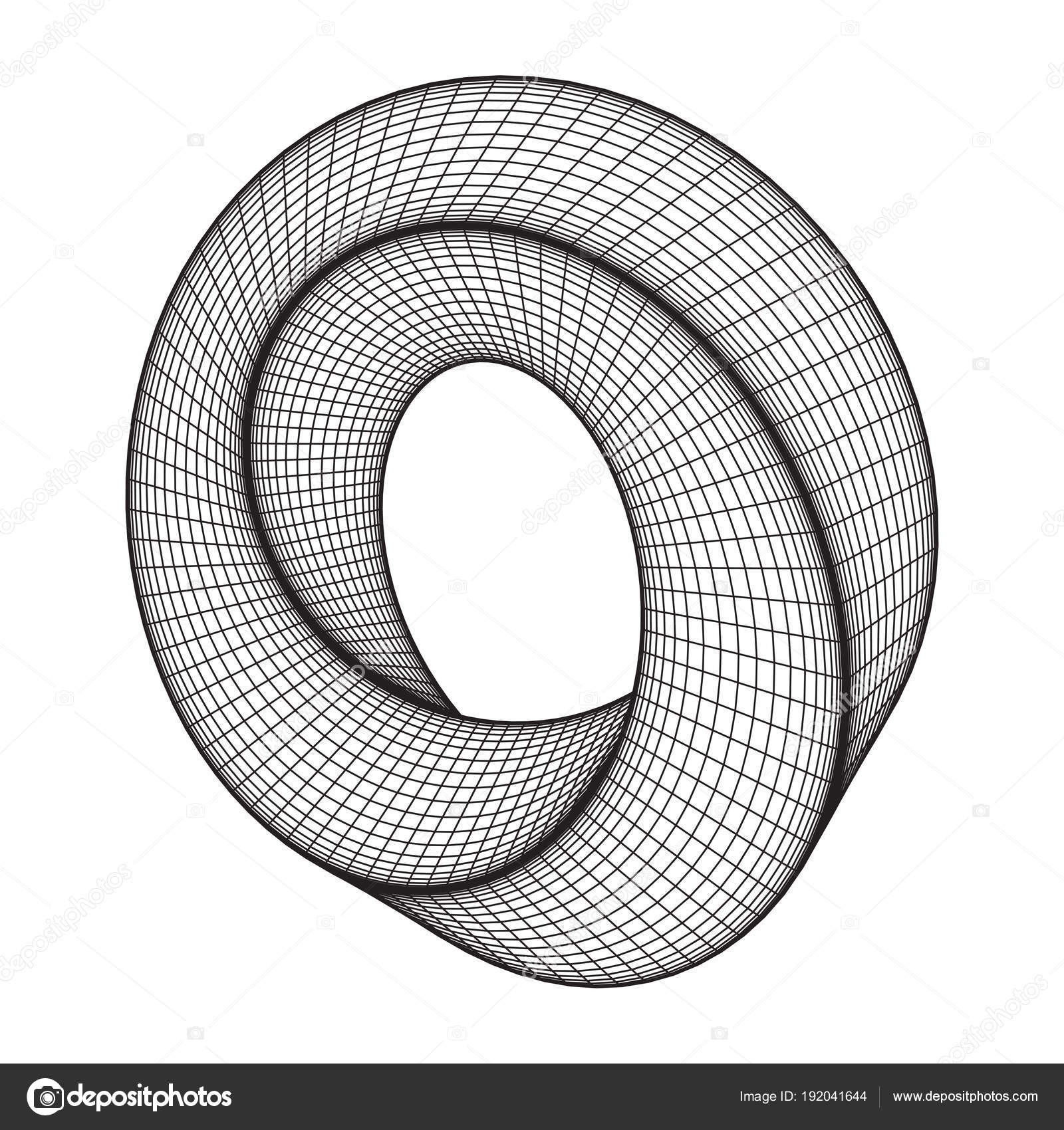Mobius strip ring sacred geometry — Stock Vector © newb1