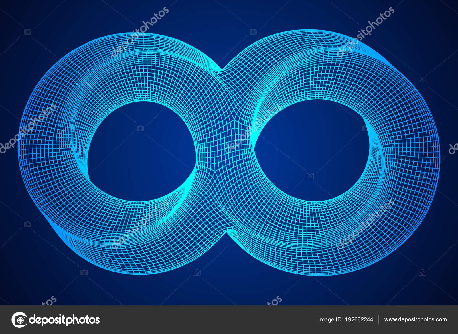Mobius strip ring infinity sacred geometry — Stock Vector