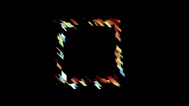 Glitched quadratische Rahmen-design