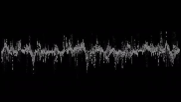 Visualisierung von Sprachaufnahmen, künstlicher Intelligenz. Musik-Equalizer