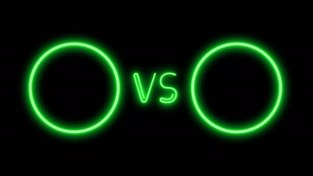 Versus obrazovky ve stylu neon