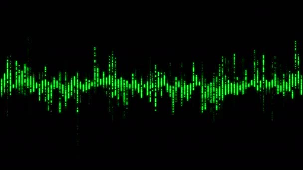 Music equalizer, audio waves or sound frequency in lines