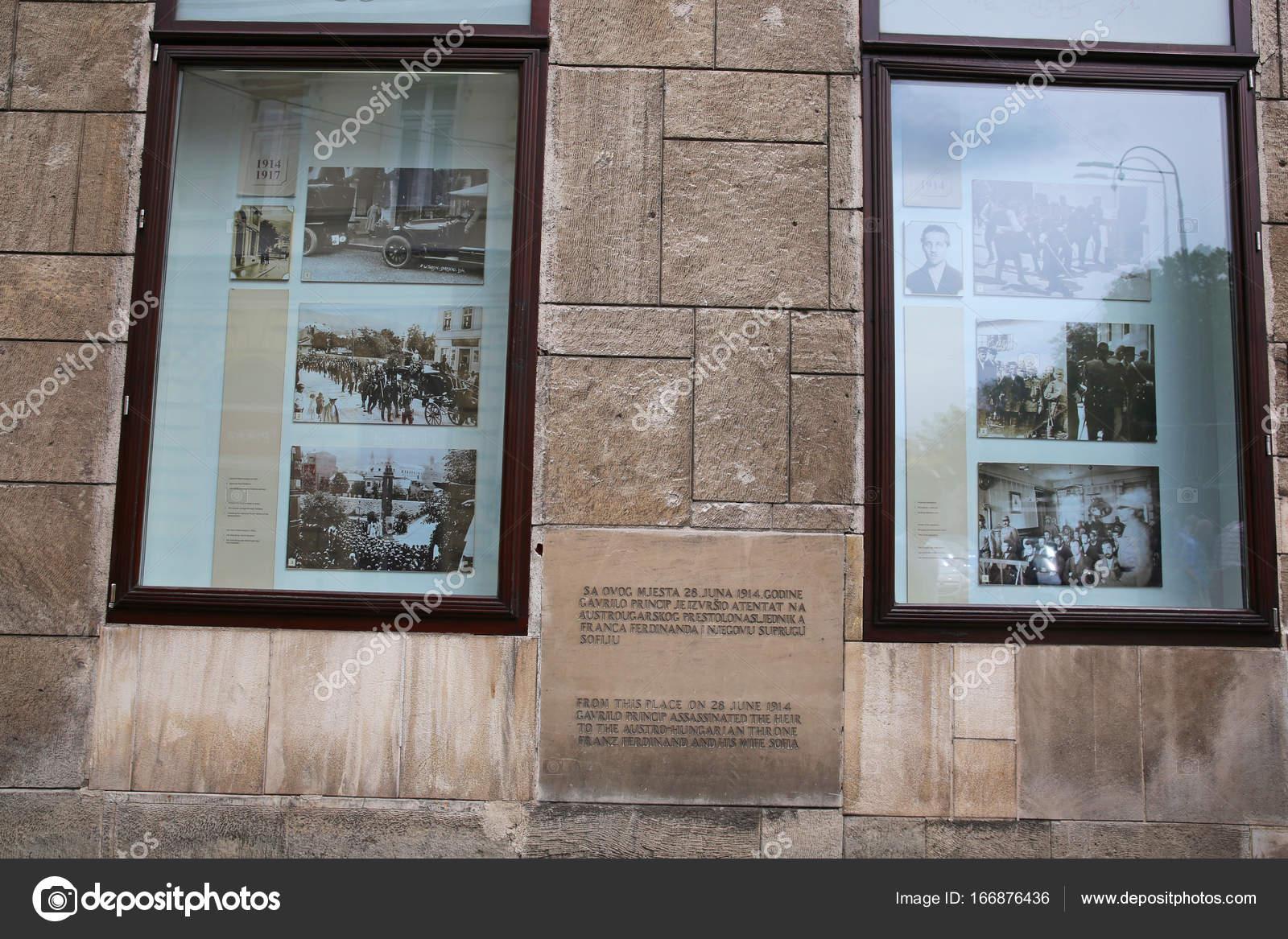 Site Of Franz Ferdinands Assassination Sarajevo Stock