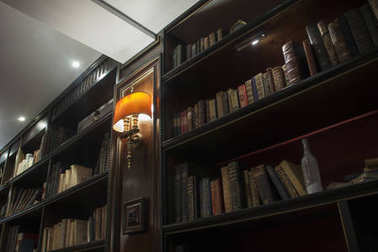 old books in a shelving