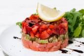 sózott hal és avokádó, Vértes finom saláta