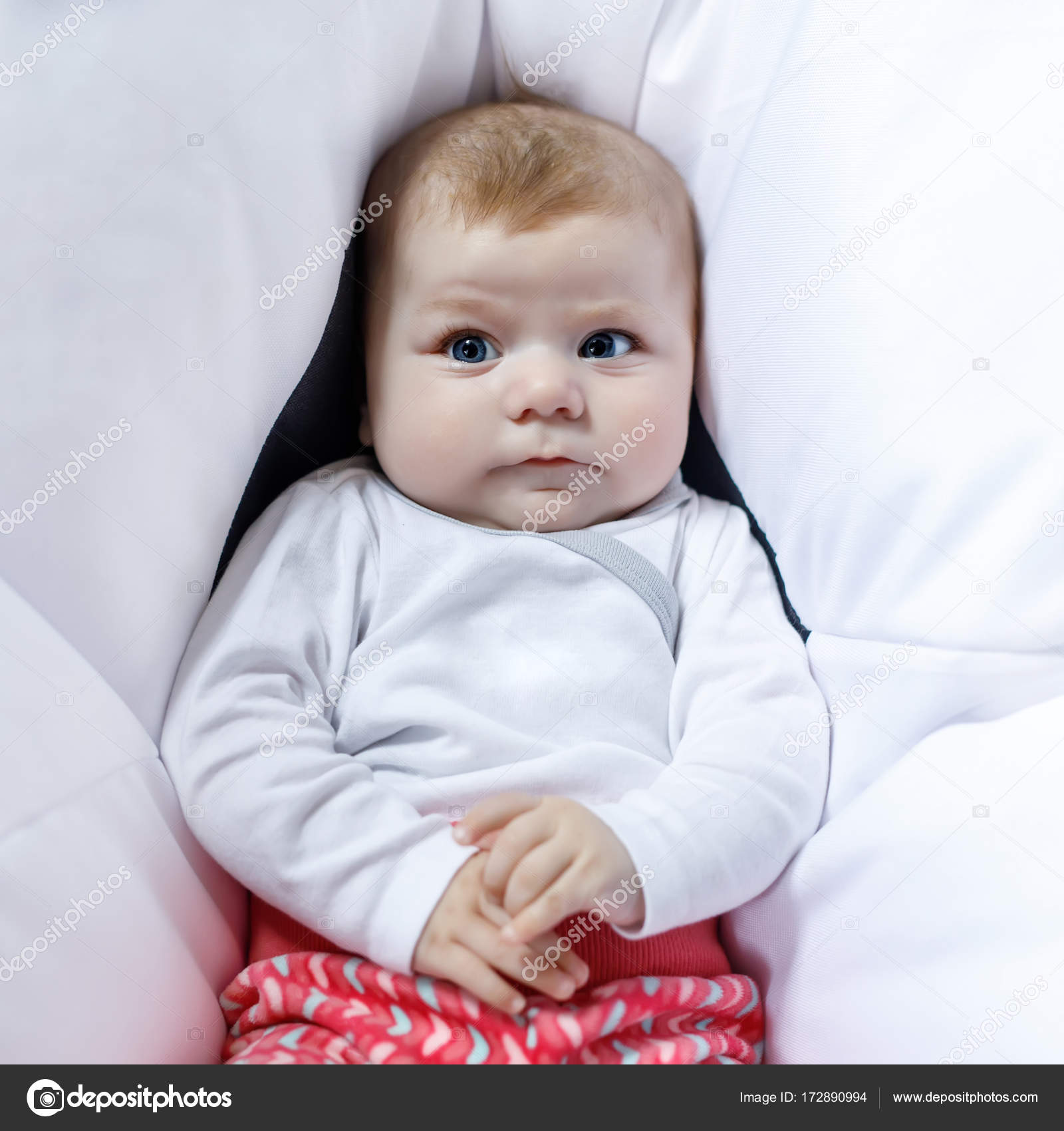portrait of cute adorable newborn baby child — stock photo