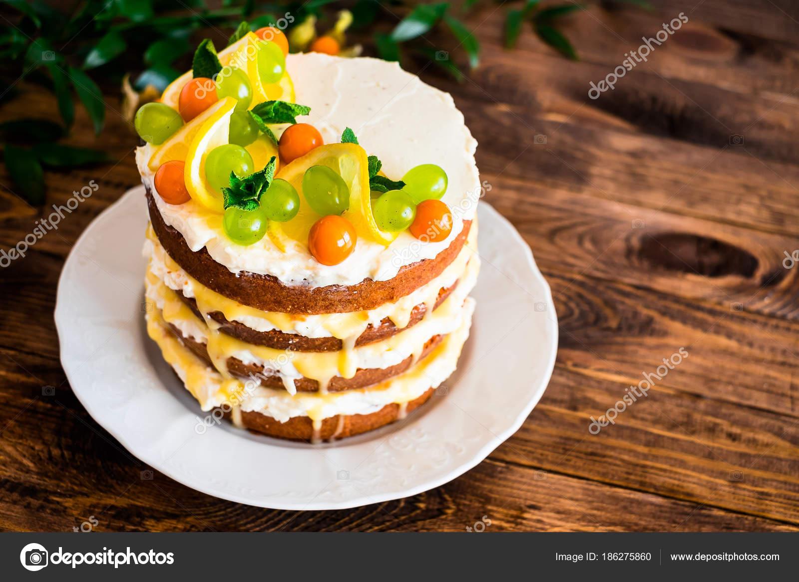 Geschichtete Kuchen Mit Vanille Mascarpone Frischkase Zitronencreme