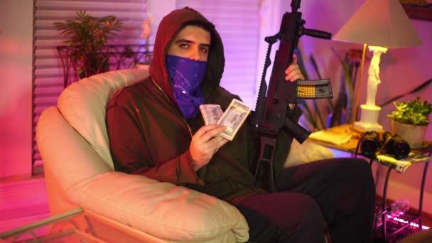 Gangster mit Geldkonzept