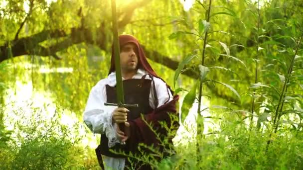 Medieval man or larper with a sword