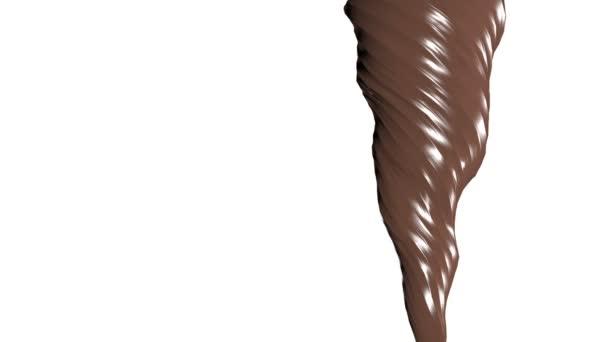 Čokoláda se nalil Cgi koncept