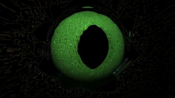 Strašidelné ještěrka očí nebo monstrum