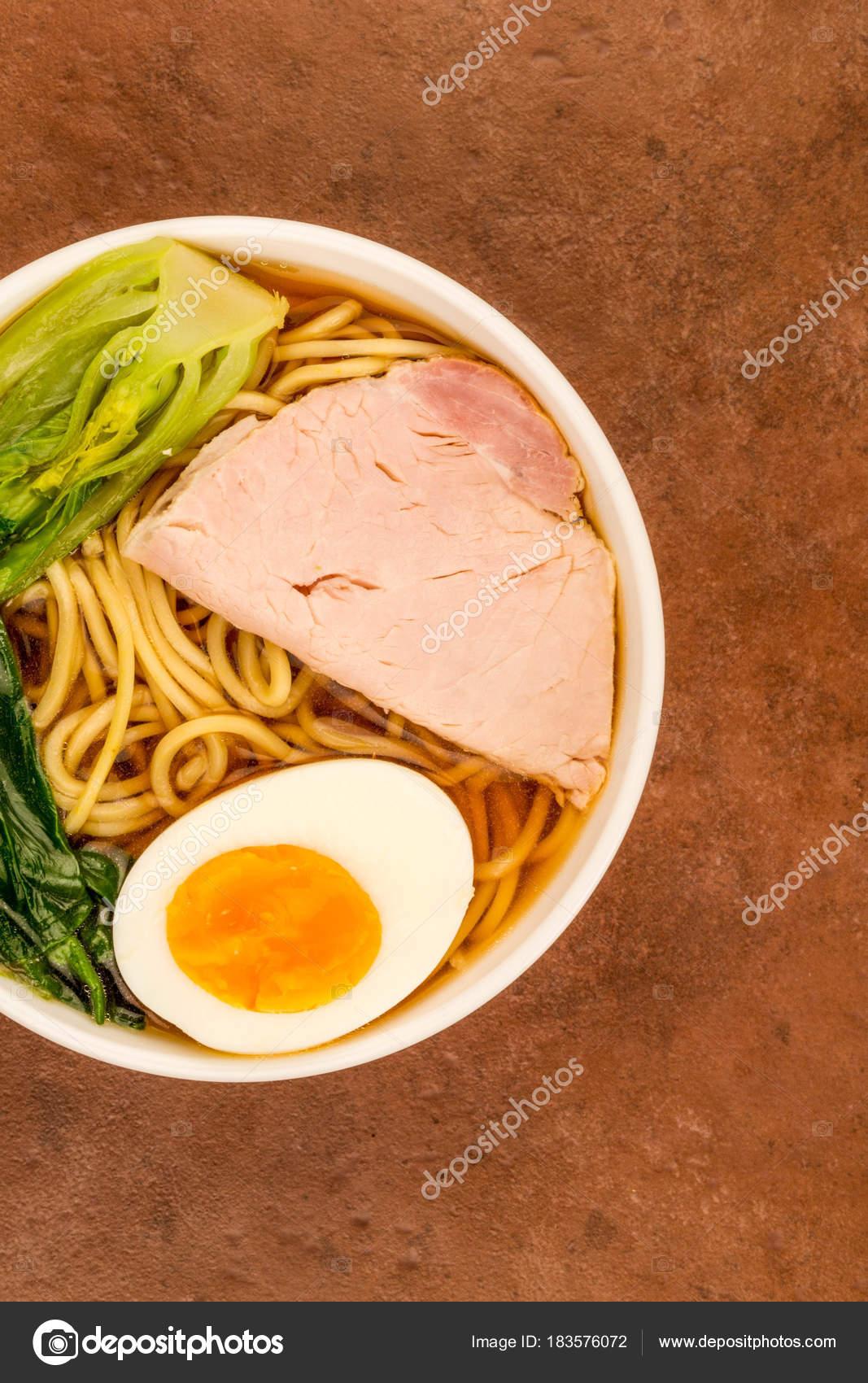 Japanese Style Pork Ramen Noodle Soup — Stock Photo