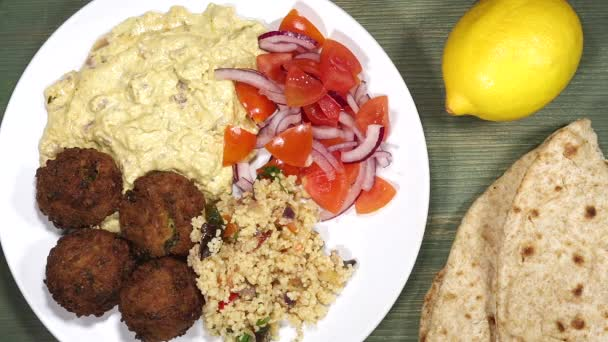 Vegetarian Falafel with Hummus And Couscous