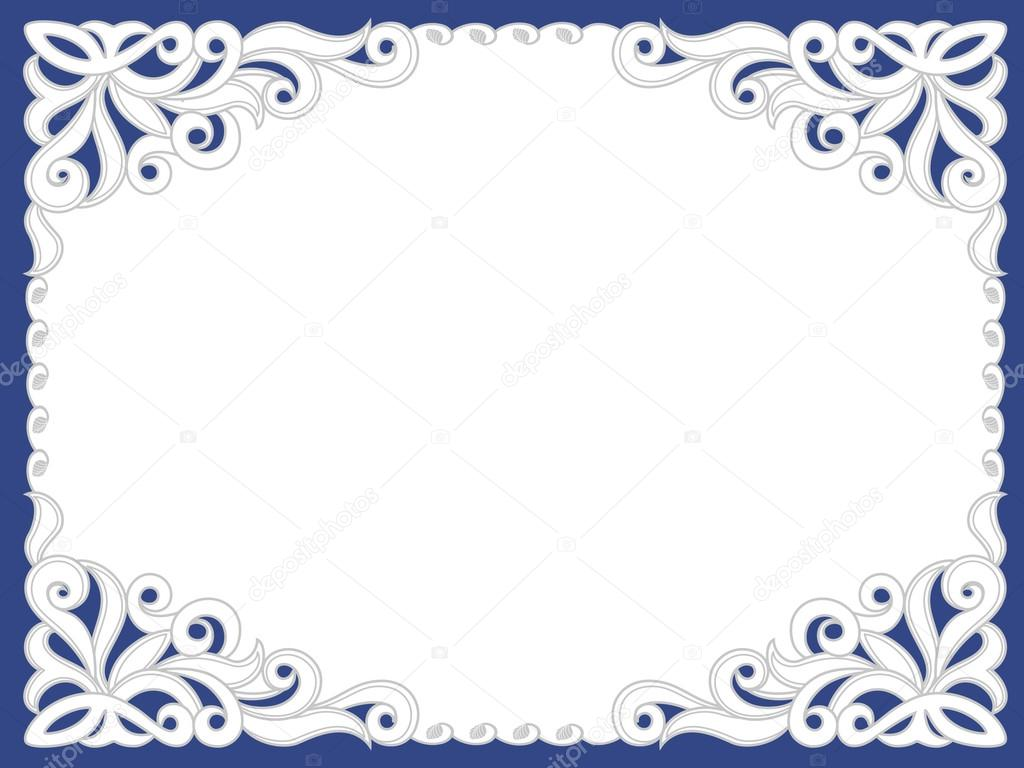 Template frame design for card  — Stock Vector © tatashat