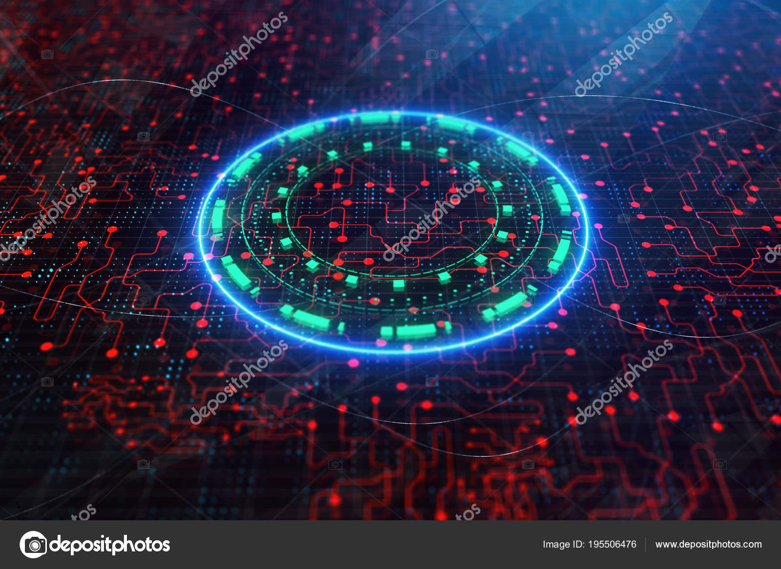 Abstract Circuit Board Wallpaper Stock Photo Tolkachev