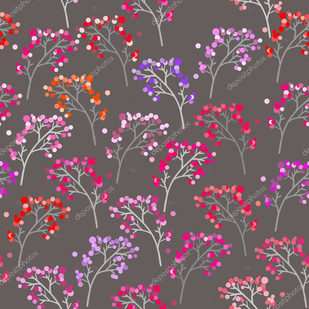 seamless floral pattern with spring branches