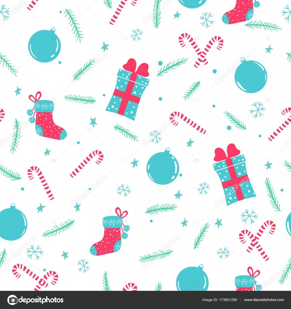 patrón sin costuras de Navidad — Vector de stock © lena_laska #173601290