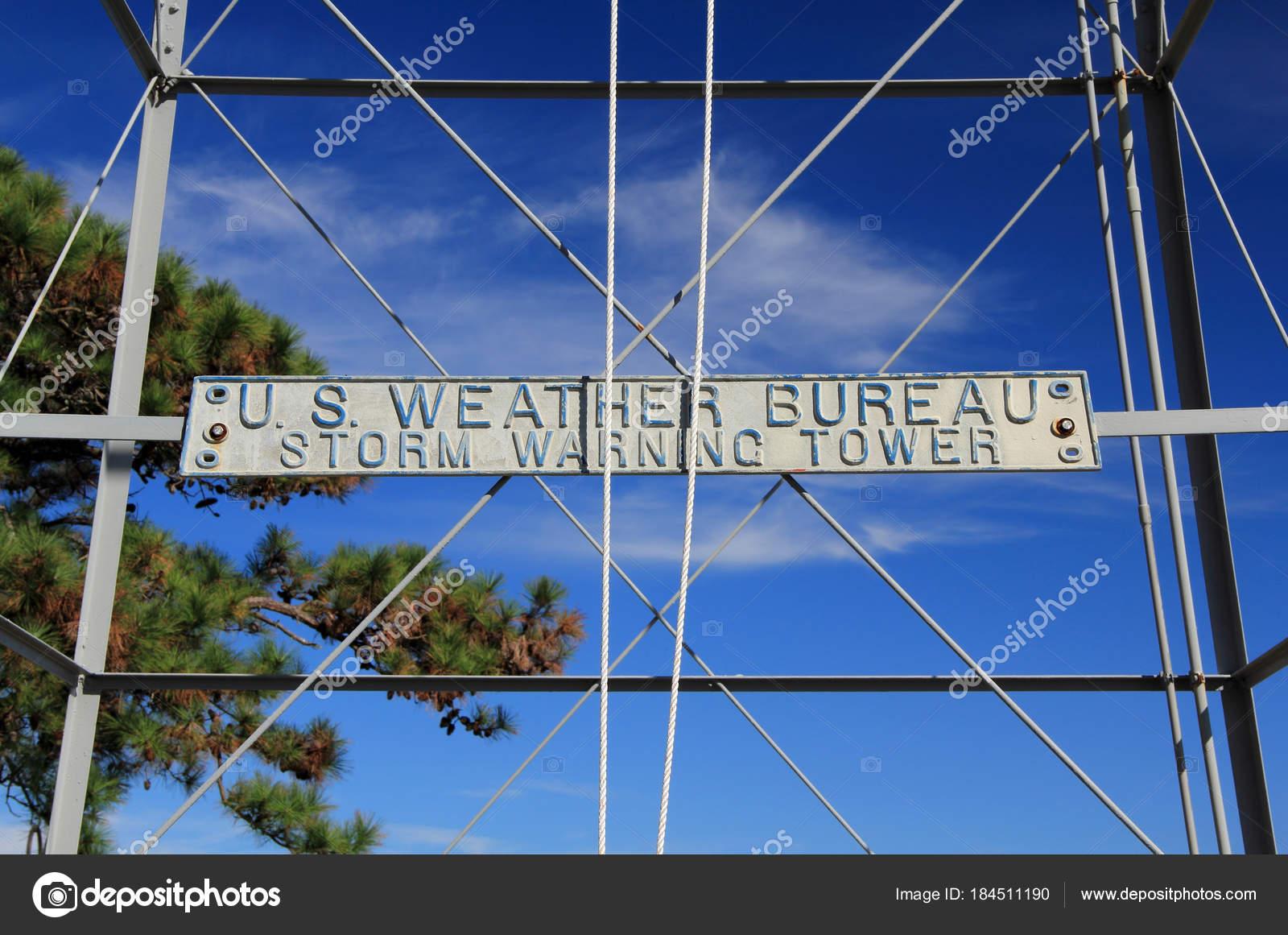Weather bureau tempestade aviso tower cidade costeira manteo