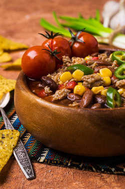 Traditional Mexican chili concarne