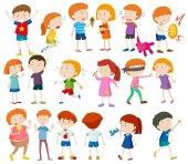 Chlapci a dívky dělají různé aktivity
