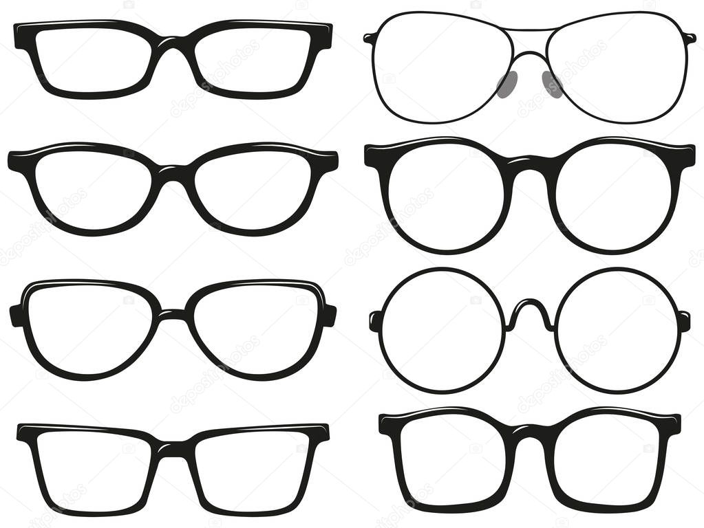Different design of eyeglasses frames — Stock Vector © blueringmedia ...