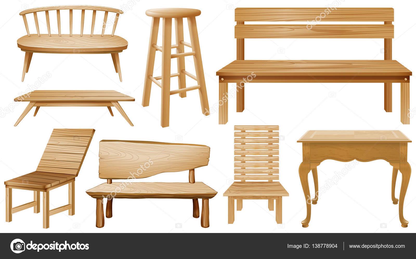 Modelli Sedie In Legno.Diversi Modelli Di Sedie In Legno Vettoriali Stock C Blueringmedia