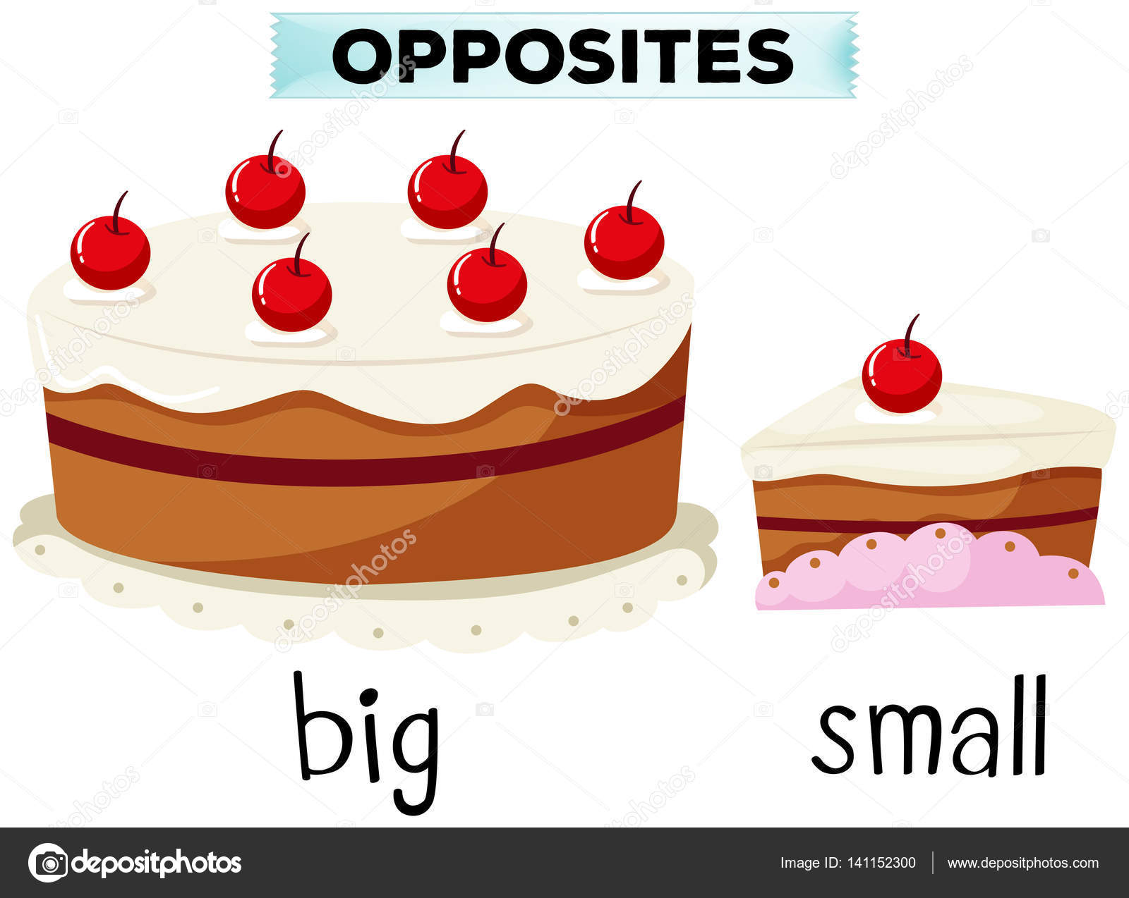 4dec90cdeb40 Opposite wordcard for big and small — Stock Vector © blueringmedia ...