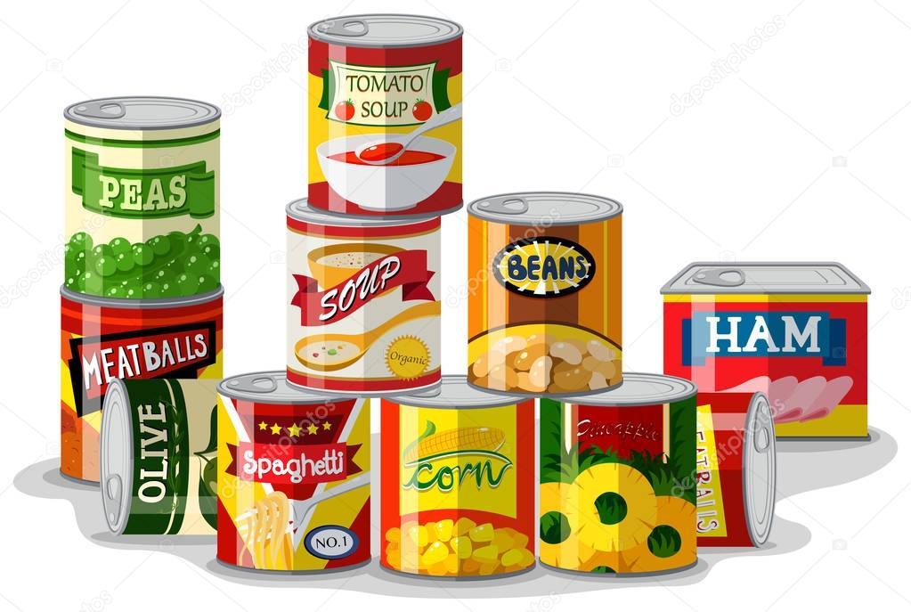 Diversi tipi di cibo in scatola vettoriali stock blueringmedia 146763659 - Diversi tipi di caffe ...