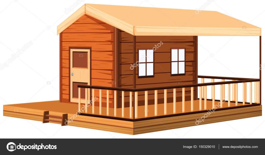 Diseño casa madera, arquitectura — Vector de stock © blueringmedia ...