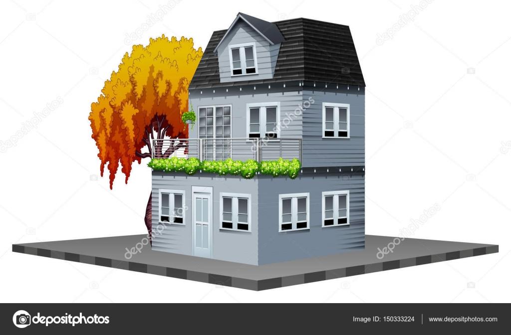 conception de btiments pour la maison peinte en gris image vectorielle