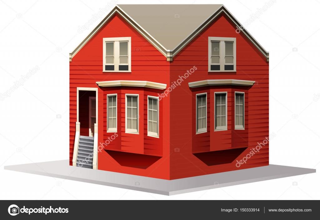 3D Design für rotes Haus — Stockvektor © blueringmedia #150333914
