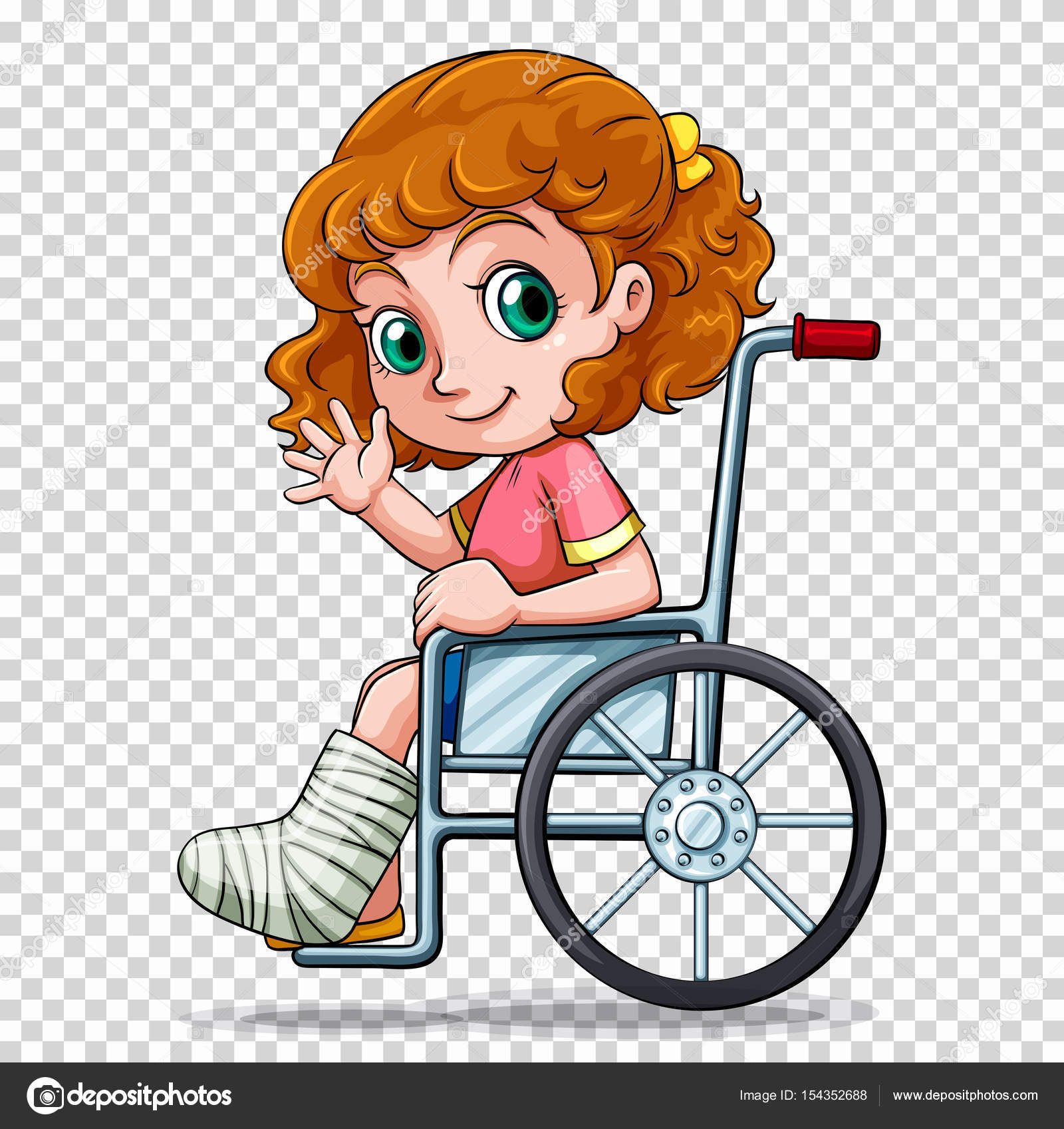 ni u00f1a en silla de ruedas vector de stock  u00a9 blueringmedia 154352688 wheelchair clipart for & sign wheelchair clipart line drawing