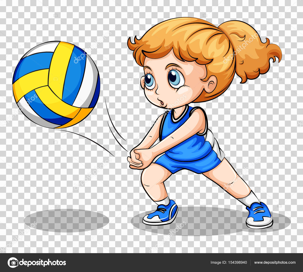 Jogador de voleibol em fundo transparente — vetor stock