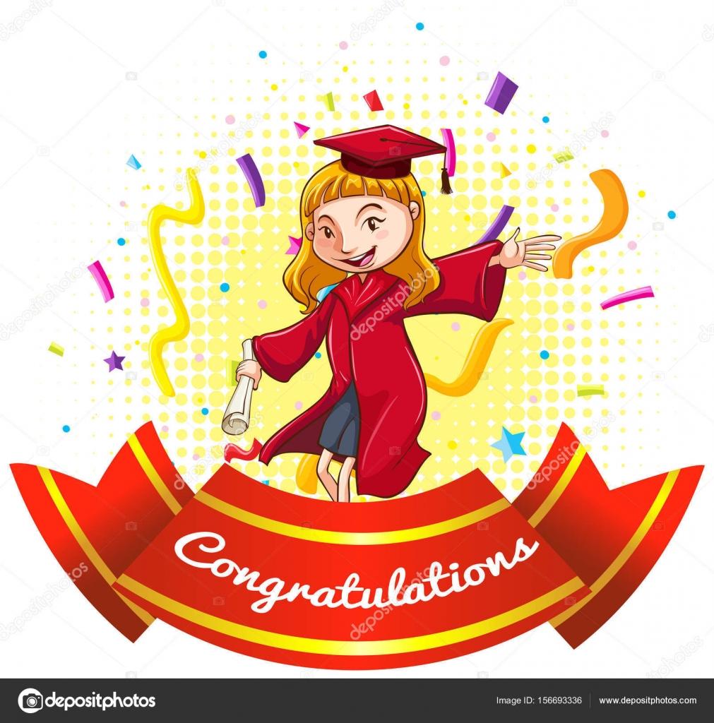 gefeliciteerd met je afstuderen Gefeliciteerd ondertekenen met meisje in afstuderen jurk  gefeliciteerd met je afstuderen