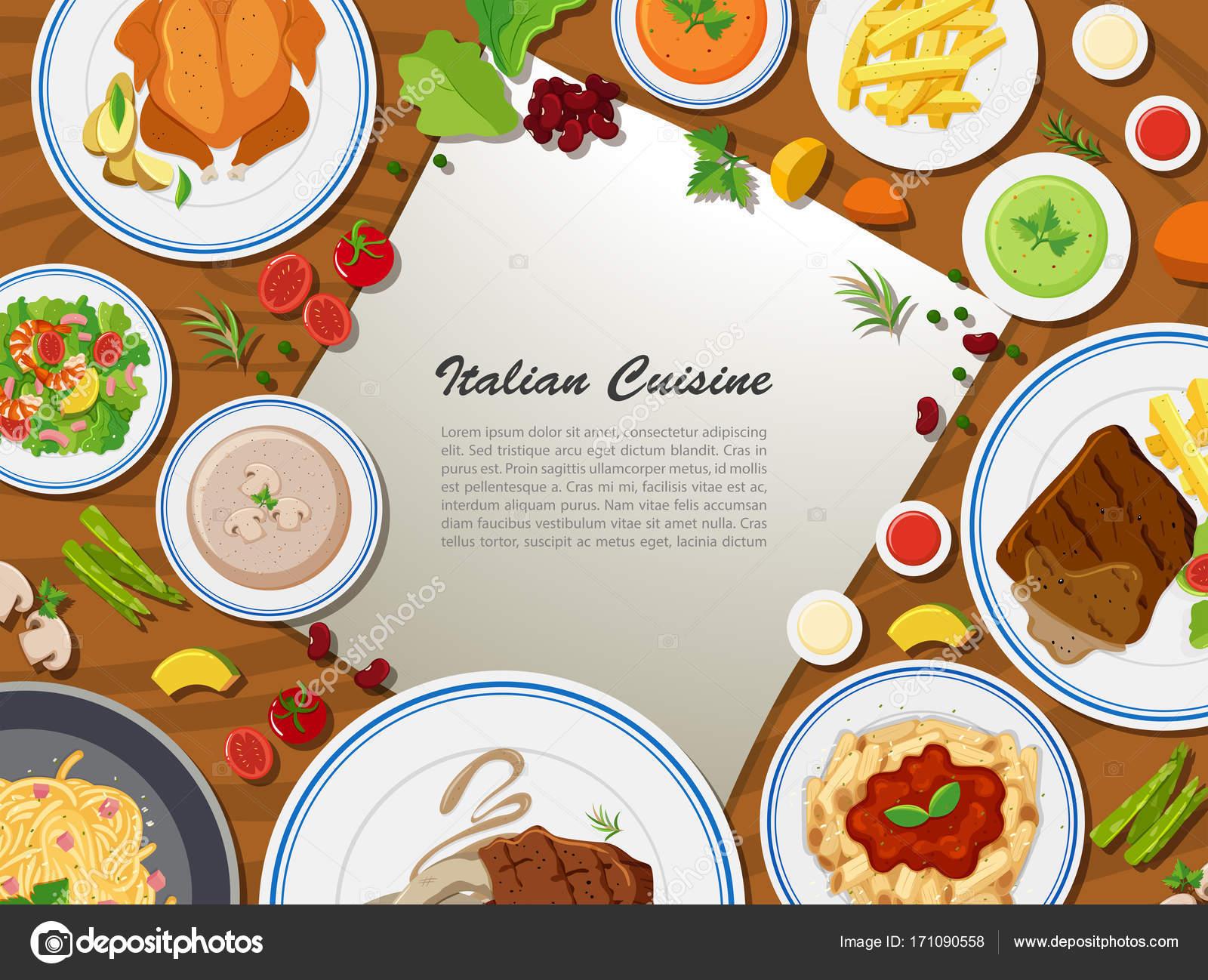 イタリア料理とポスター デザイン ストックベクター Blueringmedia