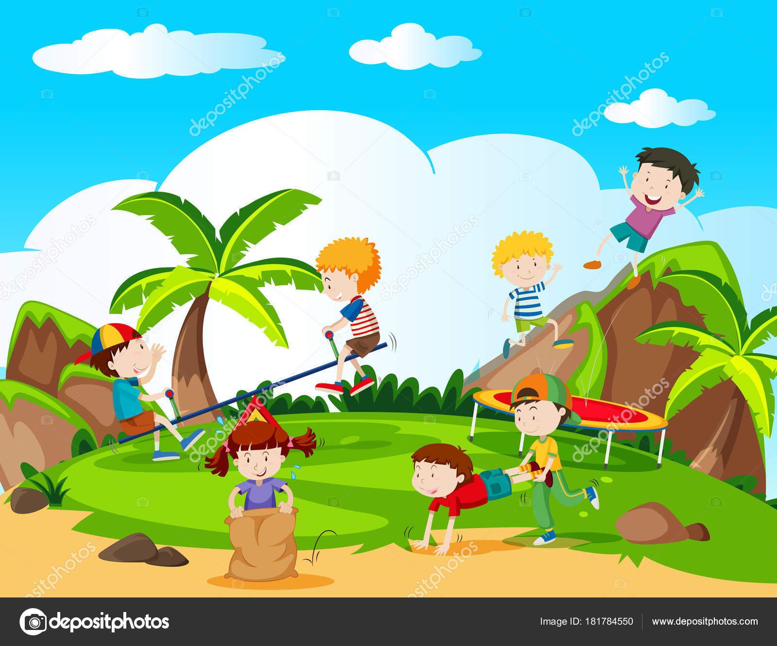 Imágenes Paisajes Con Recursos Naturales Para Colorear Niños