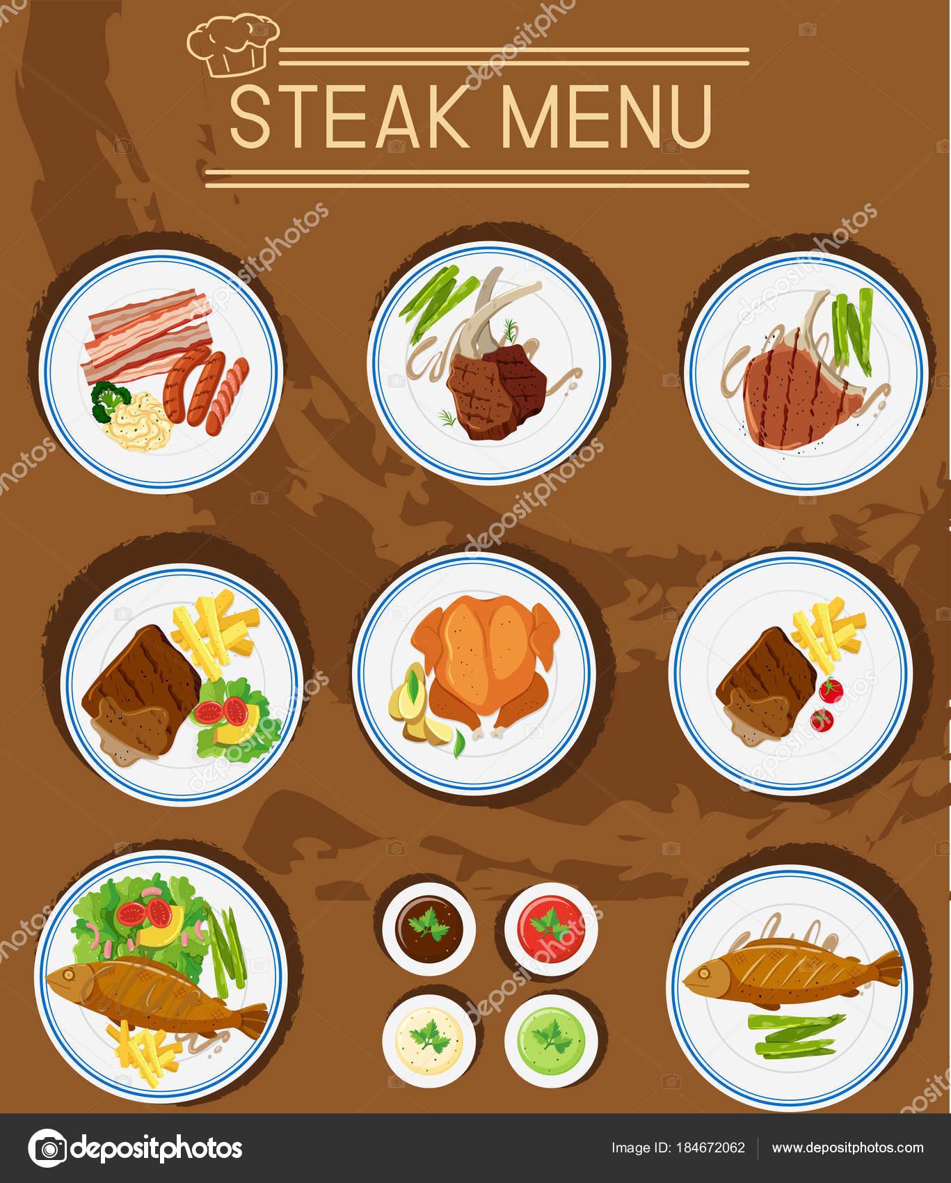 steak men mit verschiedenen arten von fleisch stockvektor blueringmedia 184672062. Black Bedroom Furniture Sets. Home Design Ideas