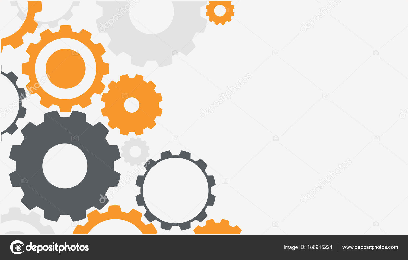 background template with colorful gears stock vector