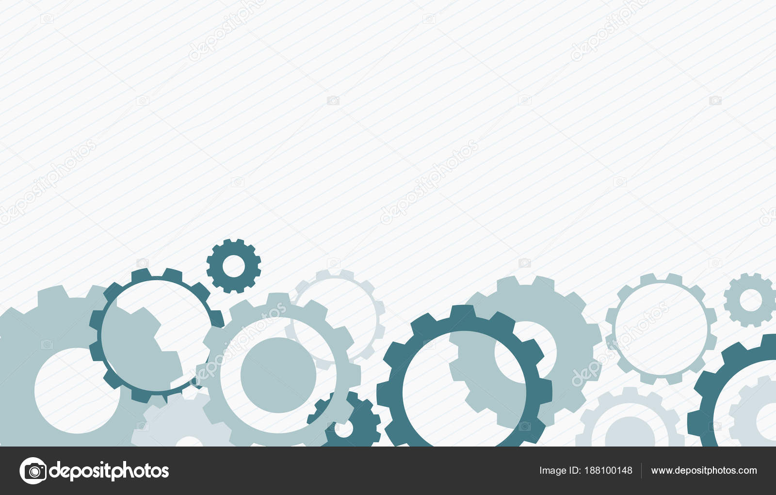 Diseño De Fondo Con Engranajes Gris Y Azul