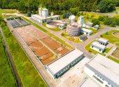 Fotografie Letecký pohled na veřejné čistírny odpadních vod