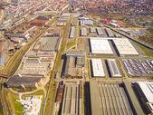 Fotografie Letecký pohled na průmyslové zóny a technologického parku