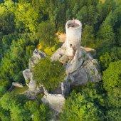 Zřícenina gotického hradu Frýdštejn v národním parku Cesky Raj