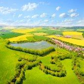 Fotografie Letecký pohled na venkovské krajiny s Úhlavu