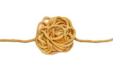 hemp rope isolated on white background. Industrial background.