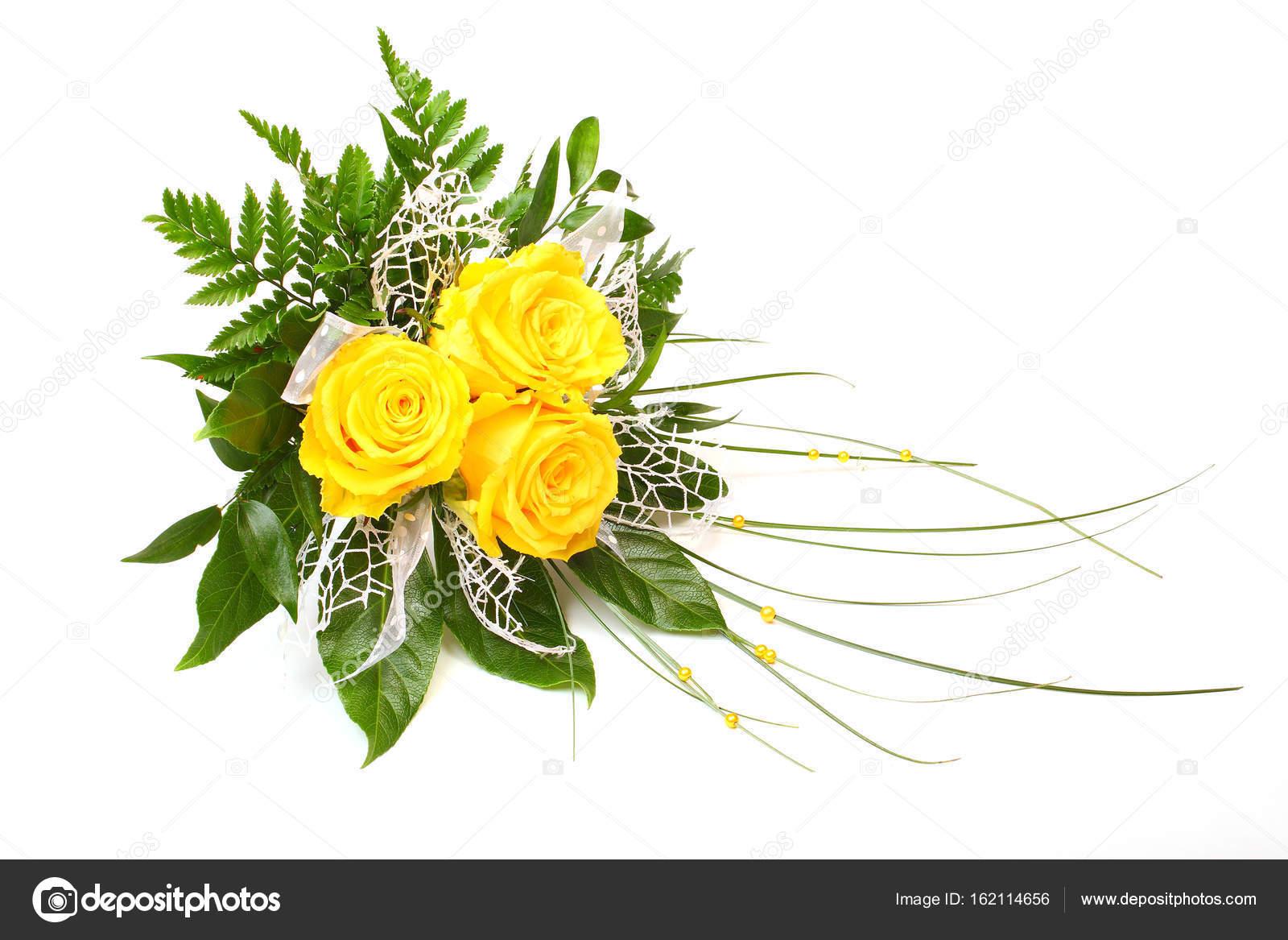Yellow Roses Bunch Of Flowers Stock Photo Vladvitek 162114656
